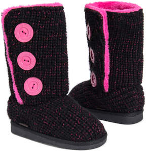Muk Luks Black & Pink Malena Boot - Kids