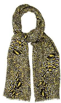 Diane von Furstenberg Leopard Print Cashmere Scarf
