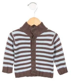 Petit Bateau Boys' Striped Mock Neck Sweater