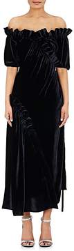 Cédric Charlier Women's Velvet Off-The-Shoulder Gown