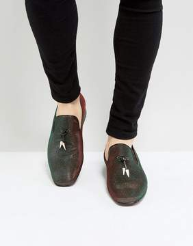 Jeffery West Jung Iridescent Loafers In Green