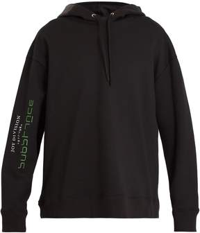 Raf Simons Printed cotton-jersey hooded sweatshirt