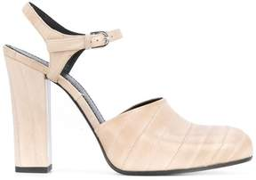 Jil Sander block heel pumps