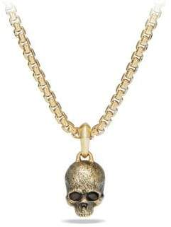 David Yurman Cable Classics Enhancer 18K Gold Skull Pendant