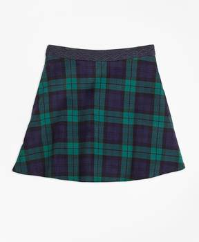 Brooks Brothers Velvet Black Watch Skirt
