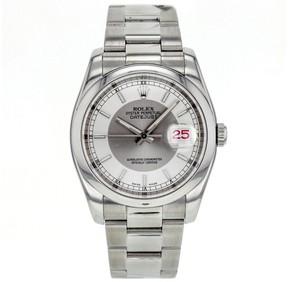 Rolex DateJust 36mm 116200 Stainless Steel Silver Tuxedo Dial Men