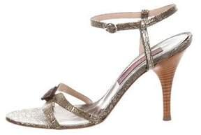 Kenzo Metallic Embossed Sandals