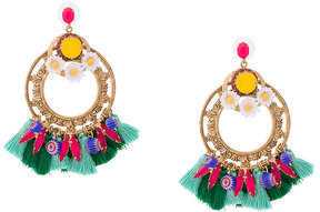 Elizabeth Cole tassel detail earrings