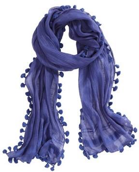 La Fiorentina Women's Tassel Silk Scarf