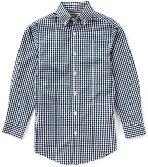 Class Club Gold Label Big Boys 8-20 Checked Non-Iron Button-Front Shirt