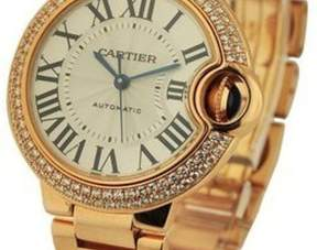 Cartier Ballon Bleu Silver Guilloche Dial Automatic Diamond Ladies Watch