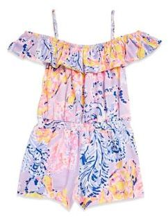 Lilly Pulitzer Toddler's, Little Girl's & Girl's Emoni Printed Cotton Romper