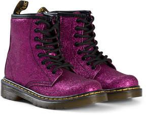 Dr. Martens Fuchsia Glitter Delaney Boots