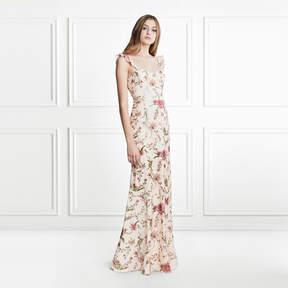 Rachel Zoe Leola Cactus Flower Sequin Gown