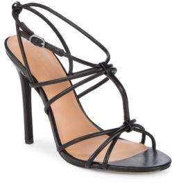 Halston Leather Stiletto Sandals