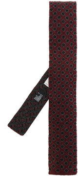 Canali geometric pattern knitted tie