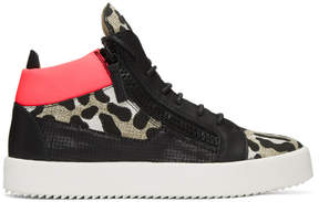 Giuseppe Zanotti Multicolor Leopard May London High-Top Sneakers