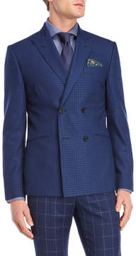 Moods of Norway Blue Double-Breasted Suit Jacket