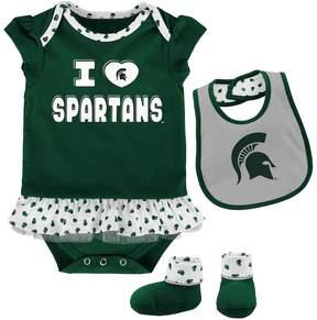 NCAA Baby Michigan State Spartans Team Love Bodysuit Set