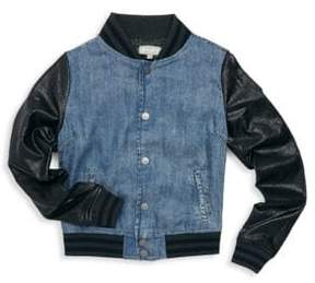 Tractr Girl's Oh Captain Jack Bomber Jacket