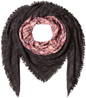 Zadig & Voltaire Printed Scarf with Metallic Thread
