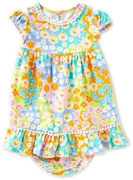 Bonnie Jean Bonnie Baby Baby Girls 12-24 Months Cold-Shoulder Floral Dress