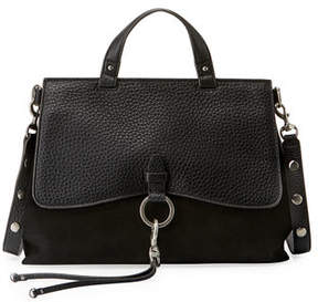 Rebecca Minkoff Keith Ring and Clip Leather Satchel Bag