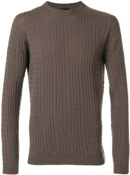 Giorgio Armani textured knit jumper
