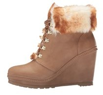 Nanette Lepore Womens Malee Faux Fur Closed Toe Ankle Cold Weather Boots.