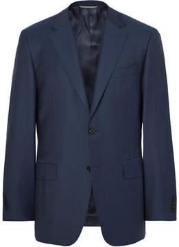 Canali Storm-Blue Slim-Fit Water-Resistant Super 130s Wool Suit Jacket