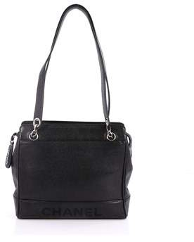 Chanel Pre-owned: Vintage Logo Chain Tote Caviar Medium