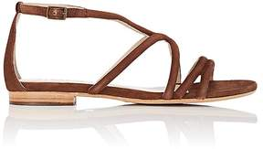 Barneys New York WOMEN'S SUEDE MULTI-STRAP SANDALS