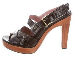 Derek Lam Patent Leather Platform Sandals