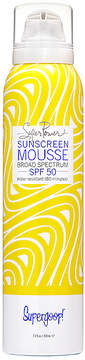 Supergoop! Supergoop Super Power Sunscreen Mousse with Blue SeaKale SPF 50.