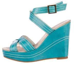 Marc Jacobs Leather Platform Wedge Sandals