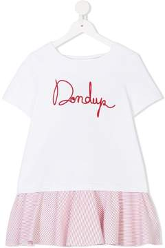 Dondup Kids logo embroidered dress