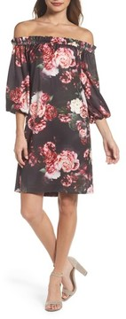 Felicity & Coco Women's Print Off The Shoulder Shift Dress