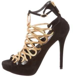 Ralph Lauren Platform Suede Sandals