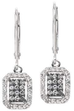 Armani Exchange Jewelry Diamond Earrings on Leverback in Sterling Silver (0.50 carats, H-I I2)
