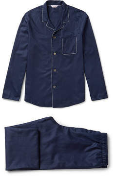 Derek Rose Lombard Cotton-Jacquard Pyjama Set