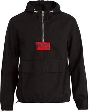 Givenchy Hooded zip-up cotton-canvas jacket