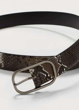 Violeta BY MANGO Snake buckle belt