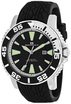 Oceanaut Marletta OC2916 Men's Round Black Silicone Watch