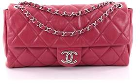 Chanel Pre-owned: Nature Flap Bag Quilted Glazed Caviar Large.