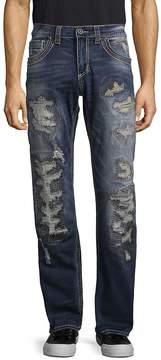 Affliction Men's Distressed Washed Jeans