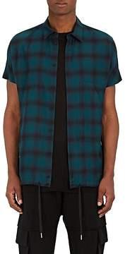 Helmut Lang Men's Drawstring-Hem Flannel Shirt