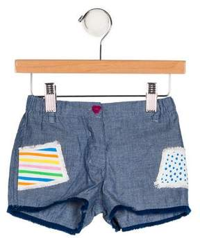 Agatha Ruiz De La Prada Girls' Appliqué Chambray Shorts