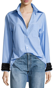 No.21 No. 21 Hortensia Embellished-Cuffs Button-Front Shirt