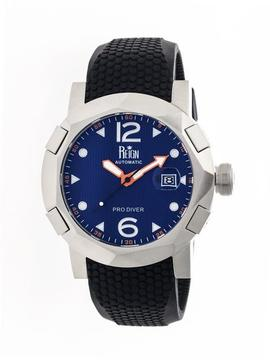 Reign Tudor Collection Men's Automatic Silicone and Stainless Steel Watch