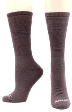 Ariat Socks Mens Micro Modal Uniform Knit Seam 2 pack XL Black A2506601